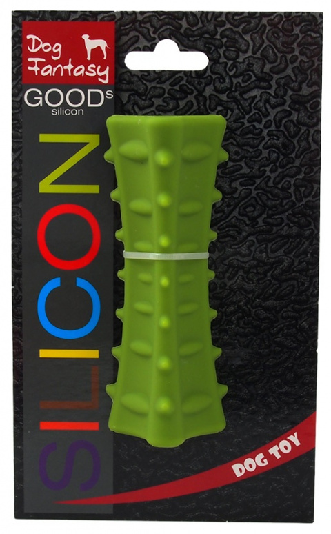 Игрушка для собак - DogFantasy Good's Силиконовая мягкая игрушка, призма, 12.7*5cm, зеленый title=