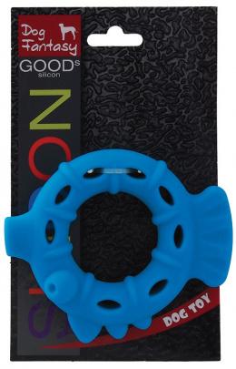 Rotaļlieta suņiem -  DogFantasy Good's Silikona košļājamā rotaļlieta, Pīle, 13.3*11*3.2cm, zila