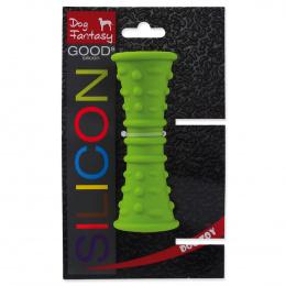 Rotaļlieta suņiem -  DogFantasy Good's Silikona košļājamā rotaļlieta, caurule, 12.7*4.8cm, zaļa