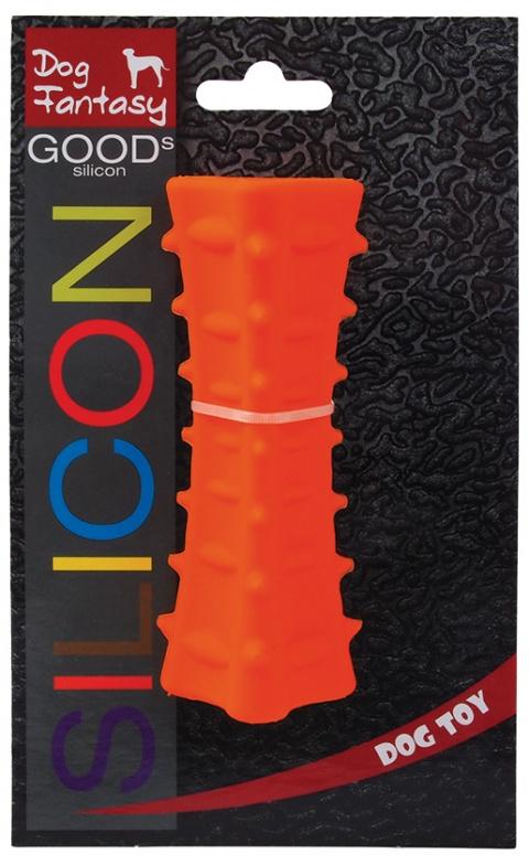 Игрушка для собак - DogFantasy Good's Силиконовая мягкая игрушка, призма, 12.7*5cm, оранжевый title=