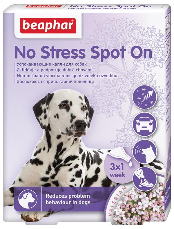 Успокоительные капли для собак - Beaphar No Stress Spot On, 3 шт.
