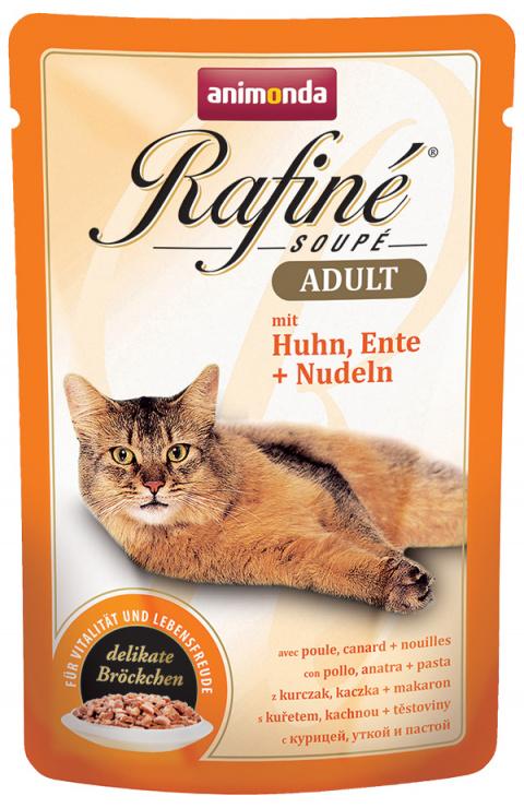 Konservi kaķiem - Rafine Soupe Adult Chicken&Duck + Noodles, 100 g