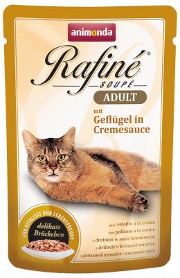 Консервы для кошек - Rafine Soupe Adult Poultry in creme sauce 100g