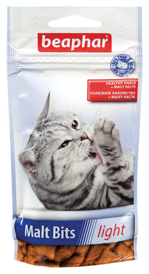 Лакомство для кошек - Beaphar Malt-Bits Light 35г title=