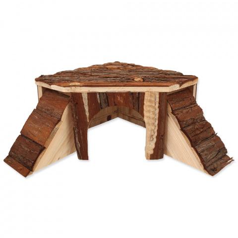 Деревянный домик для грызунов - Домик SMALL ANIMAL  25 x 25 x 15 cm title=