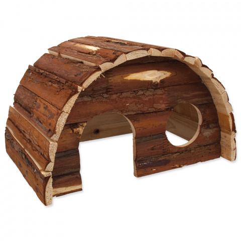 Деревянный домик для грызунов - SMALL ANIMALS Hobit dreveny, 36.5 x 22 x 20 см title=