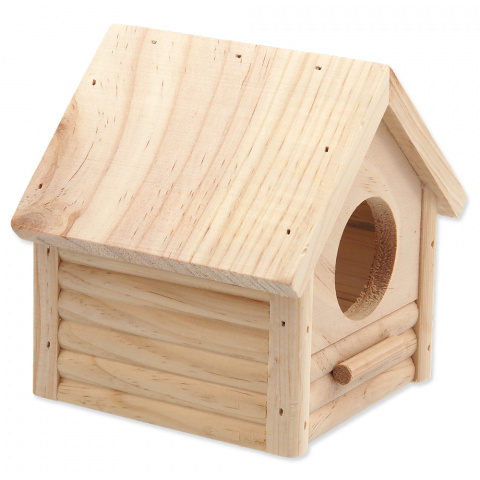 Деревянный домик для грызунов - SMALL ANIMAL Budka, 12x12x13.5 см title=