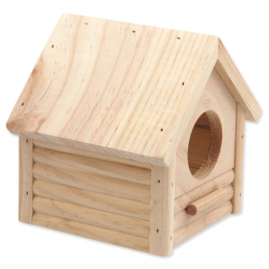 Деревянный домик для грызунов - SMALL ANIMAL Budka, 12x12x13.5 см