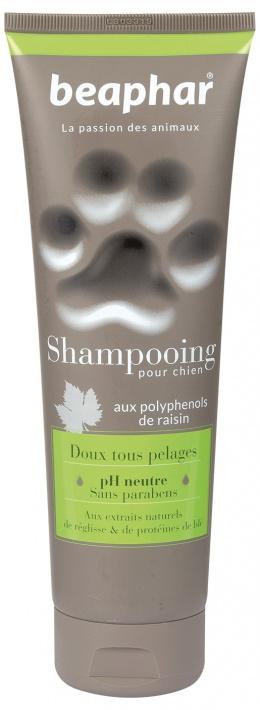 Šampūns suņiem - Beaphar Shampooing Pour Chien, DOUX TOUS PELAGES (soft, all), 250ml