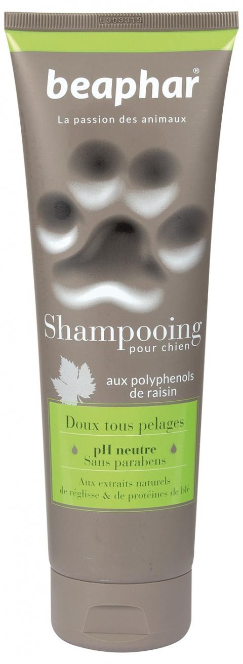 Шампунь для собак - Beaphar Shampooing Pour Chien, DOUX TOUS PELAGES (мягкость), 250 мл title=