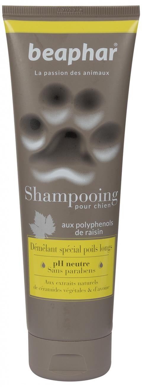 Šampūns suņiem - Beaphar Shampooing Pour Chien, DEMELANT SPECIAL POILS LONGS (anti tangle), 250 ml title=