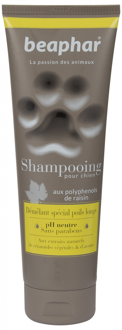 Шампунь для собак - Beaphar Shampooing Pour Chien, DEMELANT SPECIAL POILS LONGS (anti tangle), 250мл.