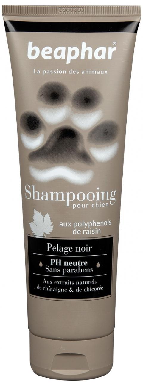 Šampūns suņiem - Beaphar Pour Chien, PELAGE NOIR, suņiem ar melnu apmatojumu, 250 ml