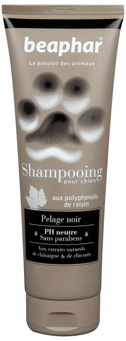 Šampūns suņiem - Beaphar Pour Chien, PELAGE NOIR, suņiem ar melnu un tumšu spalvu, 250ml.