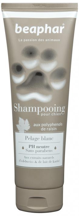 Šampūns suņiem - Beaphar Pour Chien, PELAGE BLANC, suņiem ar baltu spalvu, 250ml