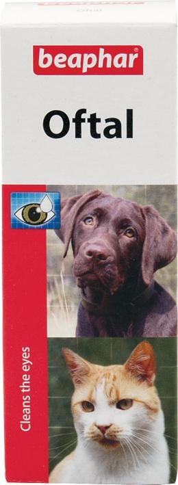 Līdzeklis acu tīrīšanai - Beaphar Oftal-Augenpfl, 50 ml