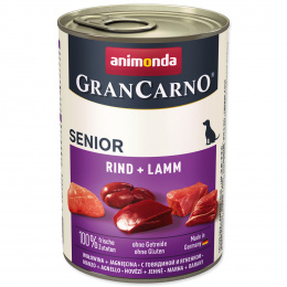 Konservi suņiem - GranCarno Senior liellopa un jēra gaļa, 400 g