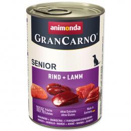 Консервы для собак - GranCarno Senior говядина и баранина, 400 г