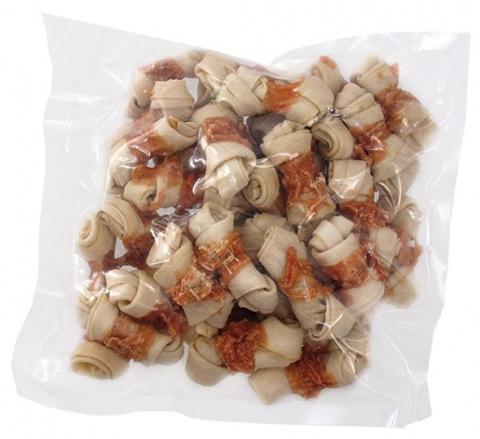 Gardums suņiem - Rasco Buffalo knots with chicken, 500 g title=