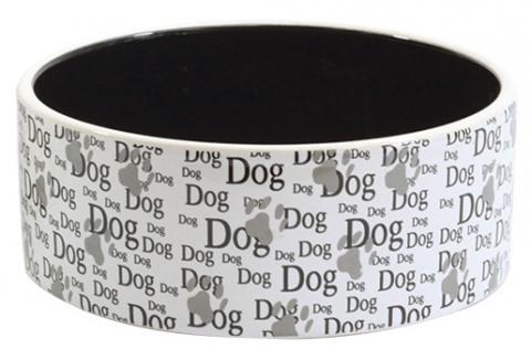 Bļoda suņiem – Dog Fantasy, Eat on Feet Ceramic Bowl Dog, 16 cm title=