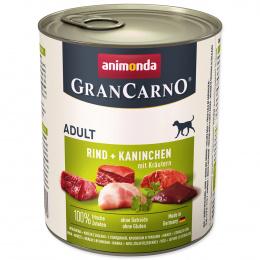 Консервы для собак - GranCarno Adult с кроликом и зеленью, 800 г
