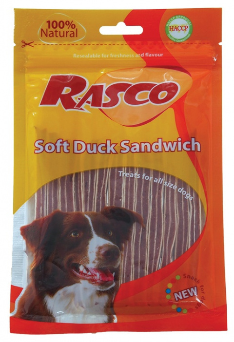 Лакомство для собак - Rasco Soft Duck Sandwich, 80g