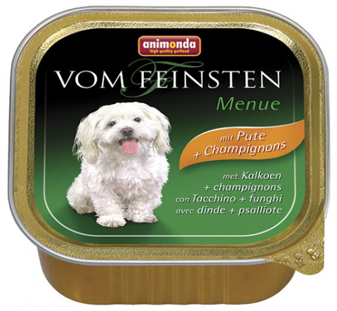 Konservi suņiem - Animonda Vom Feinsten Mare, ar tītaru un sēnēm, 150 g