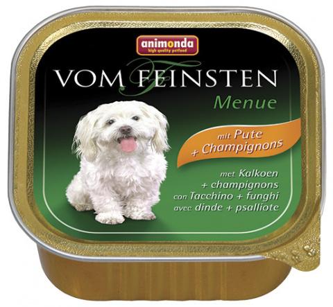 Консервы для собак - Animonda Vom Feinsten Mare,с индейкой и грибами, 150 г