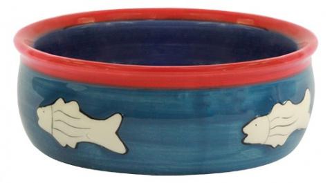 Миска для кошек - MAGIC CAT, Ceramic Bowl with fishbone, 12.5 cm  title=
