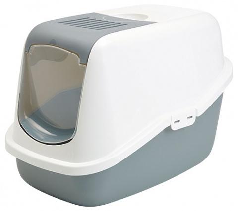 Туалет для кошек - Savic Nestor, холодный серый - белый, 56*39*38.5 cm