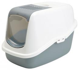 Туалет для кошек - Savic Nestor холодный серый/белый, 56*39*38.5 см