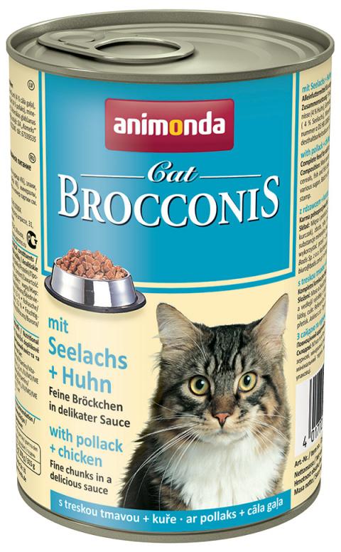 Консервы для кошек - Animonda Brocconis Cat, с сайдой и курицей, 400 г title=