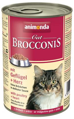 Konservi kaķiem - Animonda Brocconis Cat, ar vistas gaļu un sirdīm, 400 g