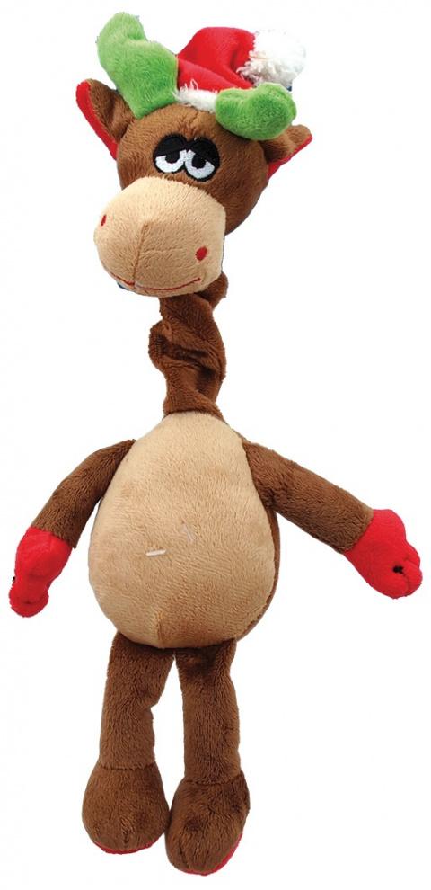 Игрушка для собак - Рождественская игрушкаs, звуковой чип, плюш, 40 cm title=