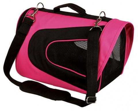 Transportēšanas soma dzīvniekiem - Trixie Alina carrier, 22 x 23 x 35 cm, pink/red title=