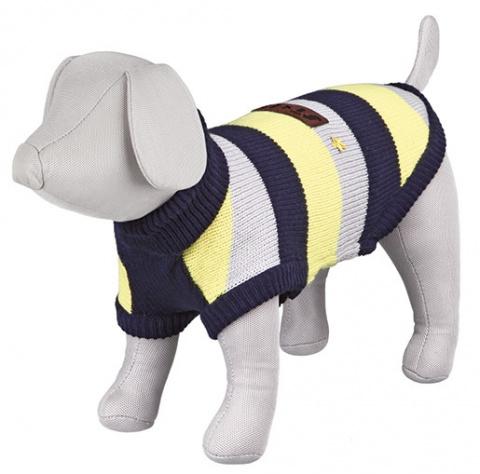 Apģērbs suņiem - Trixie Adamello pullover, S, 33 cm, zila/pelēka/dzeltena title=