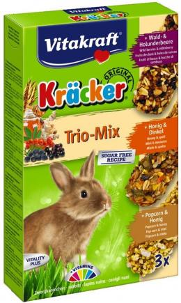 Лакомство для кроликов - Kracker*3 for Rabbit (honey+popcorn+active)