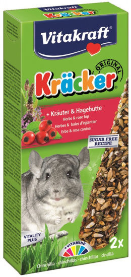 Gardums šinšilām - Kracker*2 for Chinchilla (herbs) 112g