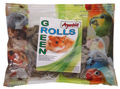 Papildbarība grauzējiem - APETIT Green Rolls 120 gr.