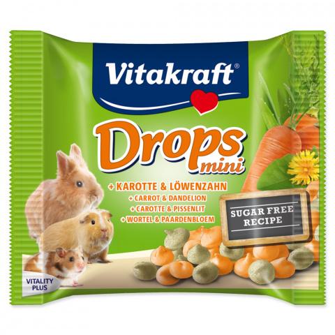 Лакомство для грызунов - Drops VITAKRAFT Happy Karotte Rabbit, 40г title=