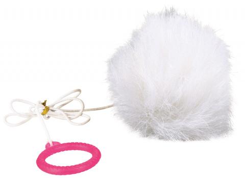 Игрушка для кошек - Fur Balls 7 cm on elastic, 45 см title=