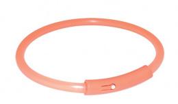Atstarojošā kakla siksna suņiem - Safer Life Flash Light Band, XL, 58cm, oranža