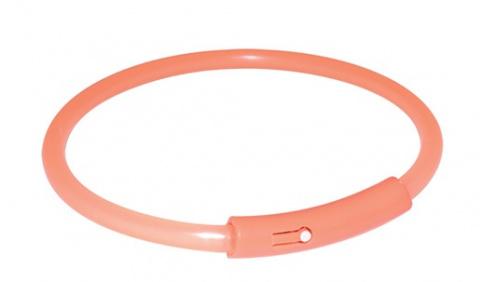 Отражающий ошейник для собак - Safer Life Flash Light Band, XL, 58cm, оранжевый title=