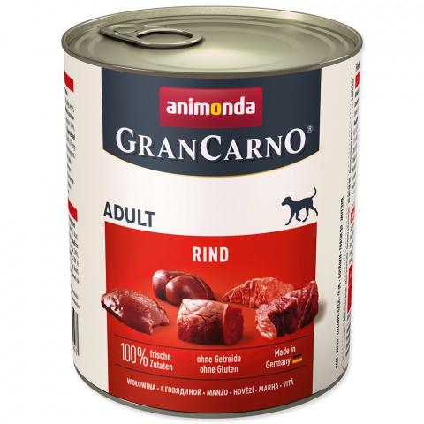 Konservi suņiem - GranCarno Adult Pure Beef, 800 g title=