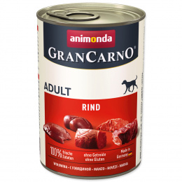 Konservi suņiem - GranCarno Adult ar liellopa gaļu, 400 g