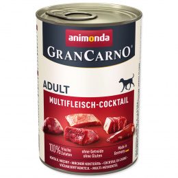 Konservi suņiem - GranCarno Adult Multi Meat Cocktail, 400 g