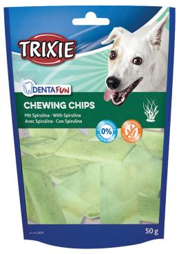 Лакомство для собак - TRIXIE Chewing Chips with Spirulina Algae, 50 г