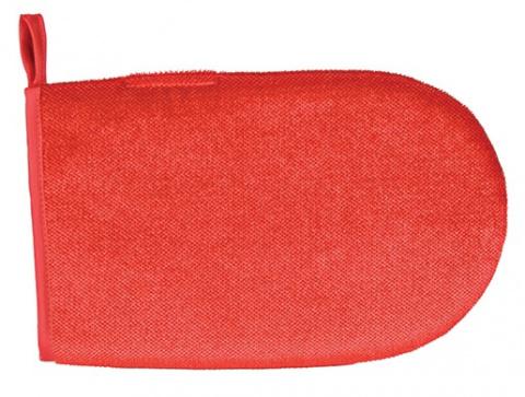 Tīrīšanas cimds - Trixie, Lint glove, double-sided, 25 cm, red title=