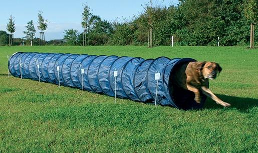 Аджилити аксессуар для собак - Trixie Dog Activity Agility basic tunnel, 60 cm/ 5 m, цвет - синий