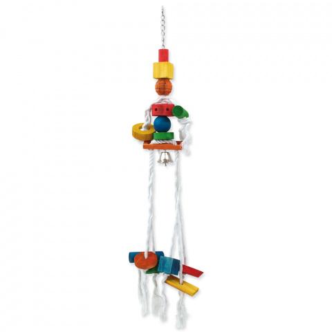 Игрушка для птиц - BIRD JEWEL Веревочная медуза 70 cm title=